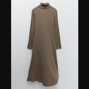 🔥MOVING SALE🔥NEW ZARA A-Line Ribbed Dress S